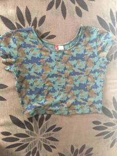Camo Crop Top for Kids