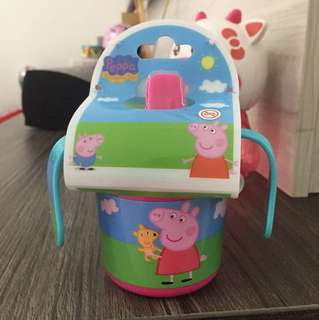 Peppa pig sipping cup