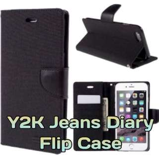 Y2K Jeans Diary Flip Case Casing Cover