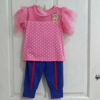 Set Baju anak polkadot