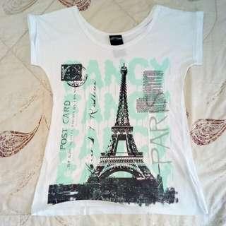 Cute Paris Printed Shirt/Top