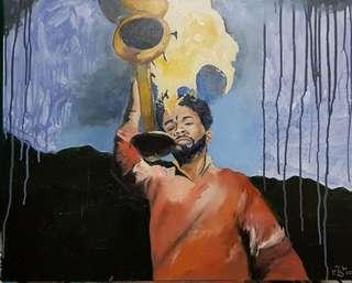 "Oil Painting - ""The Ganga Aarti"""