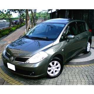 【北部認證中古車】日產Nissan TIIDA 5D 免頭期款 免付訂金 雙證件可全額貸款購車