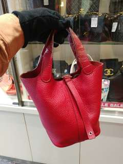 Hermes picotin 18 red