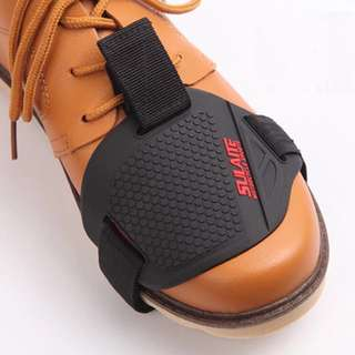 Wear-resisting Rubber Motorcycle Gear Shift Pad For Riding Shoes Scuff Mark Protector Motor Boot Cover Shifter Guards Protective