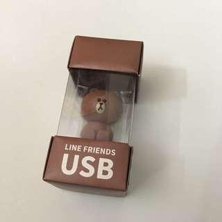 Brown Line Friends - USB 30GB