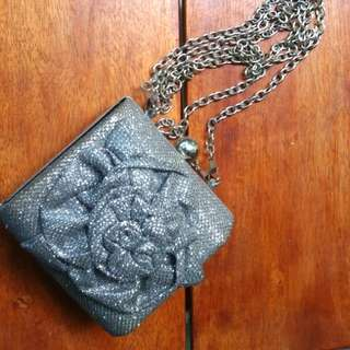 Silver clutch from Call it Spring