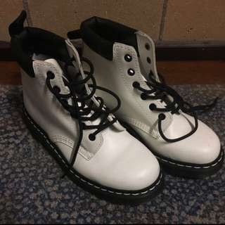 Authentic White Doc Marten Boots