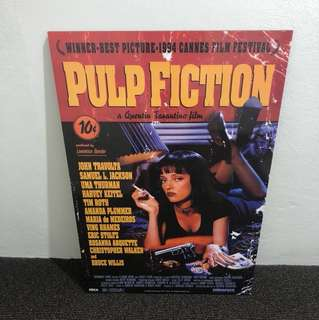 Large Pulp Fiction poster block mounted on MDF