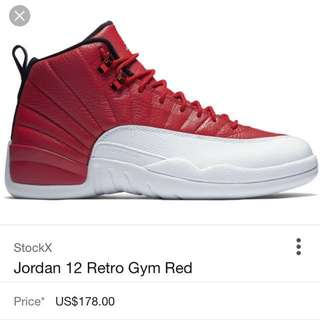 Gym Red Jordan 12's