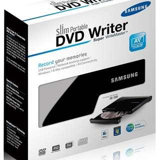 SAMSUNG USB 2.0 Slim External DVD Writer Model SE-208AB/TSBS