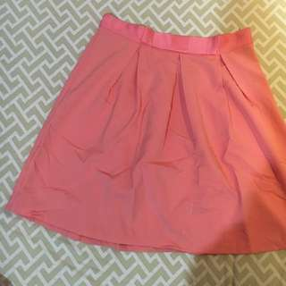 Pink skirt (size L) fits like an M