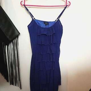 Cobalt Blue Ruffle Dress #julypayday