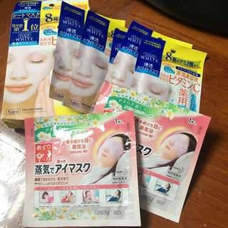 日本Kose Mask面膜送兩張蒸氣眼膜