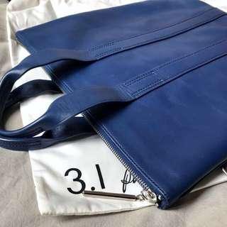 3.1 Phillip Lim Blue leather shoulder / hand carry bag 名牌手袋包包斜孭