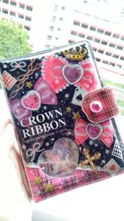 [ CROWN RIBBON STICKER BOOK ]