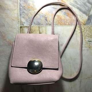 REPRICED parisian light pink sling bag