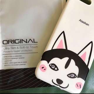 IPhone7plus mobile case Q版繪圖雪橇狗手機殼