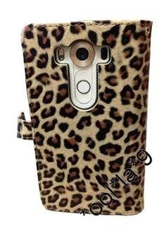 LG V10 case 豹紋 插卡式 手機殼 機殼 機套 極具保護 可讀到八達通 有暗格可放紙幣