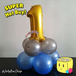 🎈Table Top Birthday Decorations | Non Helium | Party Decorations | My Jolly Box