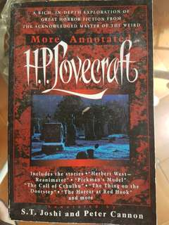More Annotated HP Lovecraft by ST Joshi and Peter Cannon