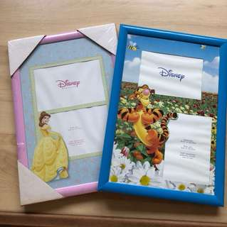 Disney children's picture photo frame. Pink and blue.