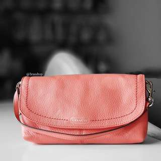 Authentic Coach Pink Leather Large Wristlet