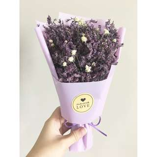 [IN STOCK] Flower Bouquet with box (Purple)