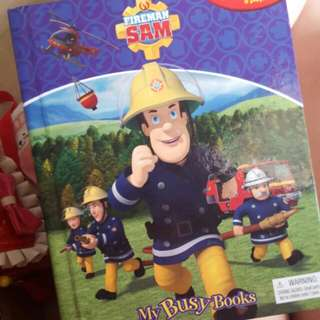 Fireman story books with figurines