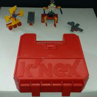 K'NEX Building Set With Red Plastic Carry Case