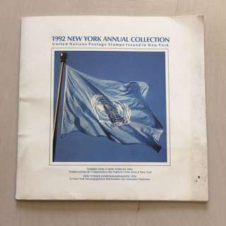 1992 New York Annual Collection United Nations Postage Stamps