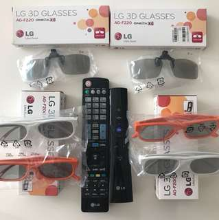 LG magic remote & 3D glasses
