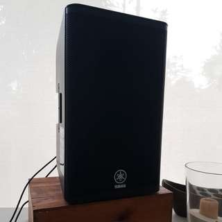 Yamaha DXR12 PA Speakers Monitors to rent out with a pair of power cables and XLR signal cables