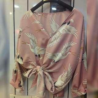 IMPORT BKK !  kimono flaminggo @105rb