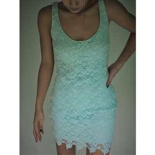 Zara Lace dress minty green