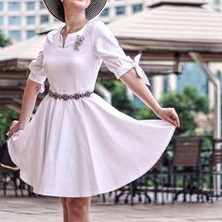 Twenty3 White Smart Casual Dress
