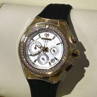 🈹原價$18000 全新 Technomarine Diamond Watch 18k 真鑽石 女裝 手錶 瑞士 1卡鑽石 情人節 情人節禮物 生日禮物