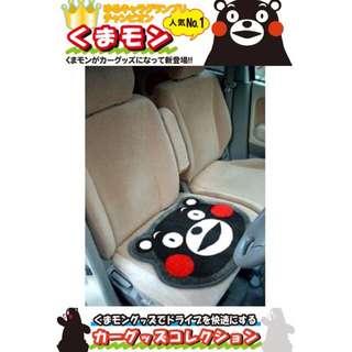 🚚 權世界@汽車用品 日本進口 熊本熊 可愛臉形圖案 止滑 坐墊 桌墊 地墊 KM-01