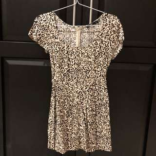 Leopard print dress size xs