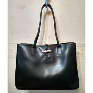 LONGCHAMP Roseau Long Leather Handle Tote