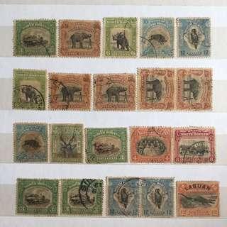 用过邮票20pieces