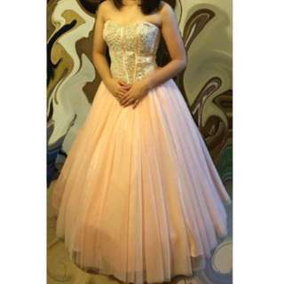 Pink/Silver Ball Gown for RENT
