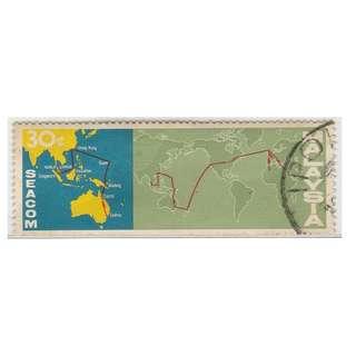 MALAYSIA 1967 MALAYSIA-HongKong Link of SEACOM Telephone Cable 30c SG #42  (0051)