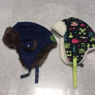 Winter ski hats for children
