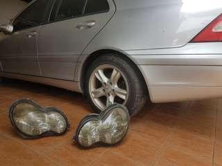 Head lamp mercedes w203