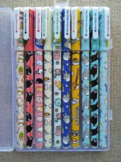 10 pcs Japanese characters colored pens from My Neighbor Totoro, Gudetama, Kumamon, etc.