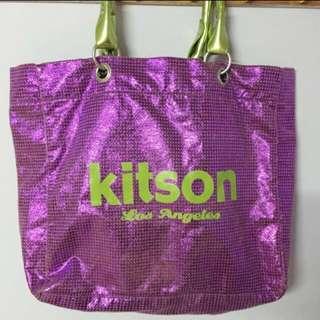 Kitson 紫色亮片肩背手提包