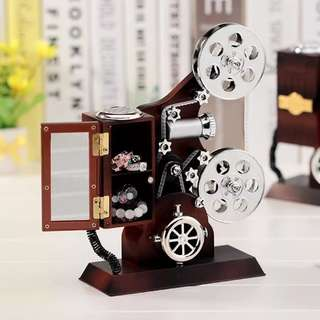 🚚 Vintage Film Projector Music Box (Valentine / Birthday / Gift)