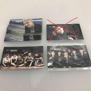 BTS Dark&Wild Official Photocard