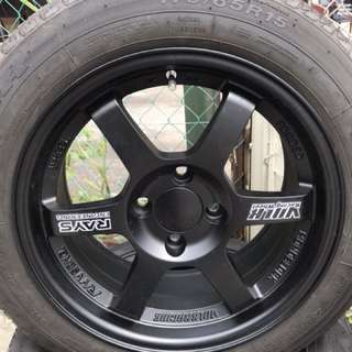 "15""te37 new with tyre"